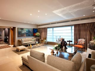 LIVING ROOM:  Living room by Finelines Designers Private Limited