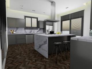 AE Interıor Archıtecture – Mutfak Projesi - Çerçiler İnşaat:  tarz Ankastre mutfaklar, Minimalist