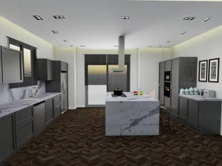 AE Interıor Archıtecture – Mutfak Projesi - Çerçiler İnşaat:  tarz Mutfak üniteleri, Minimalist