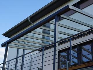 Terrassendach München MeterStein - Überdachung Klassische Bürogebäude Aluminium/Zink Grau