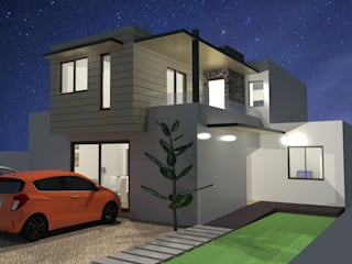 Remodelación y Ampliación de una casa en Santiago: Casas unifamiliares de estilo  por ARquitectura