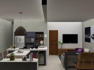 Apartamento Leblon Salas de estar modernas por DV ARQUITETURA Moderno