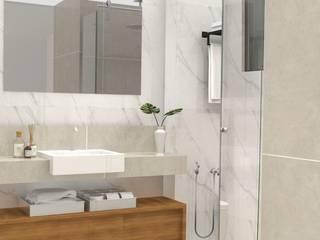 Apartamento Leblon Banheiros minimalistas por DV ARQUITETURA Minimalista