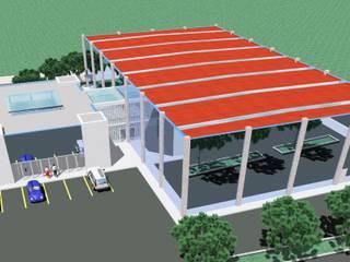 Pavilhão Desportivo - Juncal: Estádios  por Luis Fojo Arquitecto
