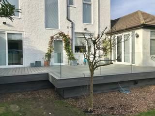 Trex Island Mist Modern style balcony, porch & terrace by Browns Landscape and Decking Ltd Modern