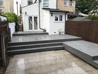 Multi Level Modern style balcony, porch & terrace by Browns Landscape and Decking Ltd Modern