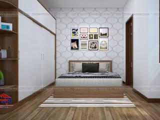 Công trình tủ bếp inox cánh gỗ acrylic và nội thất gỗ An Cường nhà anh Toản – Lạng Sơn Nội thất Hpro BedroomWardrobes & closets Multicolored