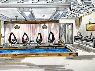 Living Space Design for a Royal in Middle East by Aikaa Designs