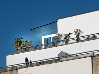 South West London IQ Glass UK Balkon Kaca Transparent