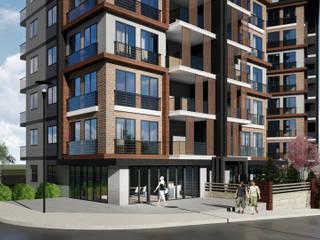 Berat Yeğen Mimarlık San ve Tic LTD ŞTİ – Başaran Sitesi Kentsel Dönüşüm Projesi:  tarz Apartman