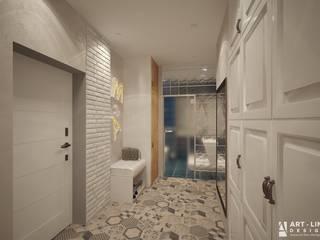 Minimalist corridor, hallway & stairs by Art-line Design Minimalist