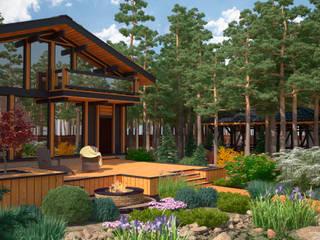 Scandinavian style balcony, veranda & terrace by Мастерская ландшафта Дмитрия Бородавкина Scandinavian