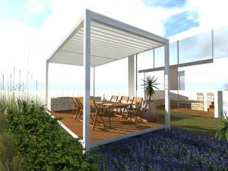 Pérgola minimal en Jardin de Designo Arquitectos Minimalista