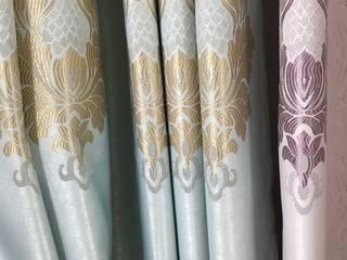 ร้านผ้าม่าน แฟบริค พลัส เน้นการจัดวางลวดลายผ้า ให้ผ้าม่านดูสวยงามลงตัว:   by Fabric Plus Co Ltd