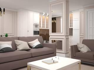 """Квартира в ЖК """"Оранж парк"""" Гостиная в классическом стиле от ive_home Классический"""