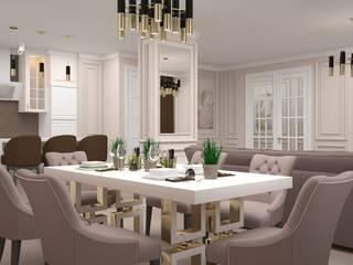 """Квартира в ЖК """"Оранж парк"""" Столовая комната в классическом стиле от ive_home Классический"""