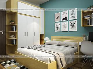 Công trình tủ bếp acrylic và nội thất phòng ngủ gỗ công nghiệp An Cường nhà chị Hiền ở Nam Định Nội thất Hpro BedroomBeds & headboards Multicolored