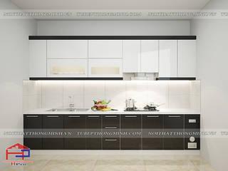 Công trình tủ bếp acrylic và nội thất phòng ngủ gỗ công nghiệp melamine nhà chị Tuyết – Thị xã Phú Thọ bởi Nội thất Hpro