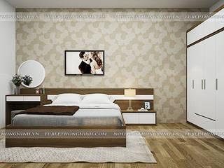 Công trình tủ bếp acrylic và nội thất phòng ngủ gỗ công nghiệp melamine nhà chị Tuyết – Thị xã Phú Thọ Nội thất Hpro BedroomWardrobes & closets Multicolored