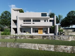 Casas de estilo minimalista de 尋樸建築師事務所 Minimalista