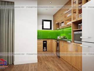 Hpro thi công lắp đặt tủ bếp gỗ sồi mỹ và nội thất gỗ công nghiệp An Cường nhà chị Lê – P701 CC An Bình Định Công Nội thất Hpro KitchenCabinets & shelves Wood effect