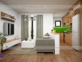 Hpro thi công lắp đặt tủ bếp gỗ sồi mỹ và nội thất gỗ công nghiệp An Cường nhà chị Lê – P701 CC An Bình Định Công Nội thất Hpro Living roomSofas & armchairs Multicolored