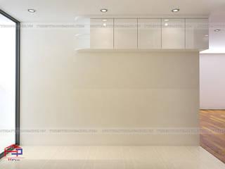 Hoàn thiện tủ bếp acrylic và nội thất gỗ An Cường nhà anh Thư P2715 CT1A HD Mon Nội thất Hpro KitchenCabinets & shelves White