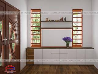 Hoàn thiện nội thất Phòng khách – Phòng ngủ gỗ melamine An Cường nhà anh Năng – Nam Định Nội thất Hpro Living roomCupboards & sideboards Multicolored