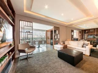 Living room by Larissa Lieders Arquitetura + Interiores, Modern