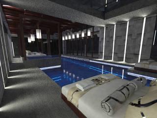 Private indoor swimming pool and leasure by Elena Lenzi INTERIOR ARCHITECTURE