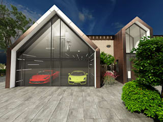 New garage and main entrance extensions by Elena Lenzi INTERIOR ARCHITECTURE