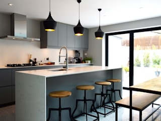 Side-Return Extension, Battersea, London Cozinhas modernas por dwell design Moderno