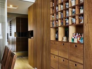 帶有禪靜的日式極簡風格居家: 亞洲  by 弘悅國際室內裝修有限公司, 日式風、東方風