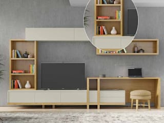 Decordesign Interiores SalasEstanterías Aglomerado Blanco