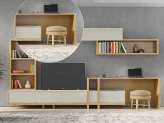 Decordesign Interiores Living roomShelves Chipboard White