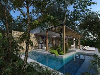 Casa Vida Chemuyil: Villas de estilo  por Obed Clemente Arquitecto