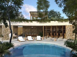 Casa Vida - Tulum: Villas de estilo  por Obed Clemente Arquitecto