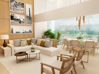 Liliana Zenaro Interiores Living room Marble White