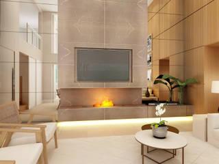 Alphaville: Salas de estar  por Liliana Zenaro Interiores,