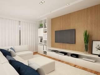 Liliana Zenaro Interiores Modern style media rooms