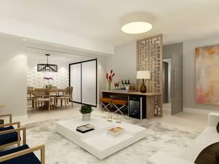 Jundiaí: Salas de estar  por Liliana Zenaro Interiores,