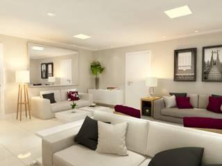 Apartamento em Santana, São Paulo: Salas de estar  por Liliana Zenaro Interiores,