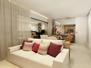Apartamento na Vila Leopoldina, São Paulo: Salas de estar  por Liliana Zenaro Interiores,