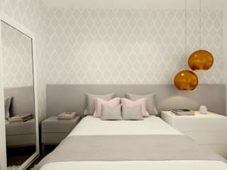 Decoração Clássica de Apartamento em Moema: Quartos  por Liliana Zenaro Interiores,