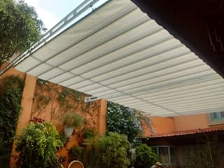 Balcon, Veranda & Terrasse modernes par PUNTO DE FUGA Moderne