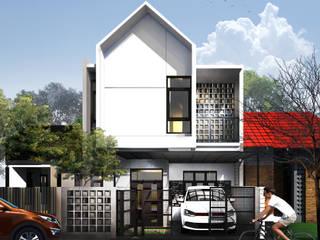 tampak depan:  Rumah kayu by 3.se studio