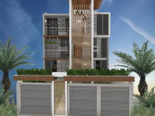 Fachada Principal: Condominios de estilo  por EH ARQUITECTOS