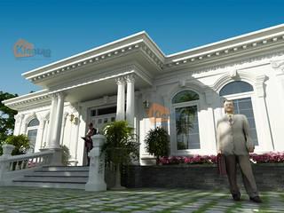 Thiết kế biệt thự vườn 1 tầng tân cổ điển mái thái – Nam Định – BT 97 bởi CÔNG TY CỔ PHẦN XD&TM KIẾN TẠO VIỆT