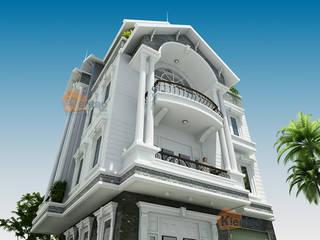 Mẫu thiết kế biệt thự lô góc 4 tầng diện tích 8.5×9.7m bởi CÔNG TY CỔ PHẦN XD&TM KIẾN TẠO VIỆT Châu Á