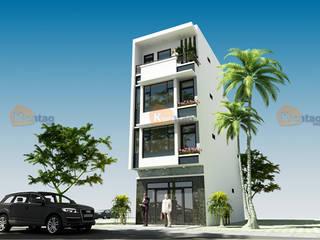 Nhà phố 4 tầng 5,1×12,5m tại Tiền Hải – NP134 bởi CÔNG TY CỔ PHẦN XD&TM KIẾN TẠO VIỆT Châu Á